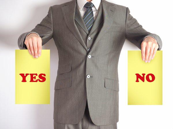YES・NOをはっきり言える男