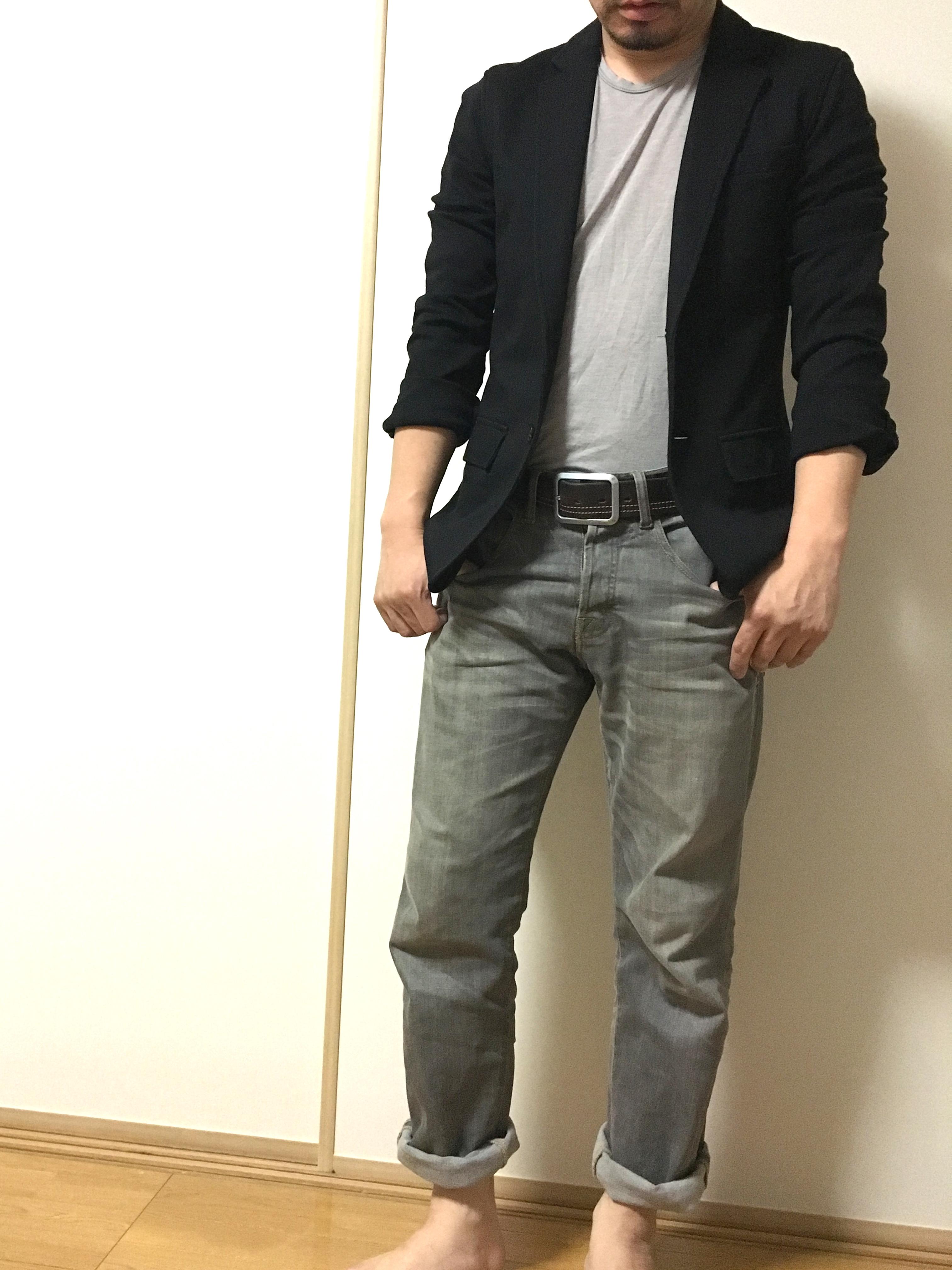 低身長ファッション裾まくり